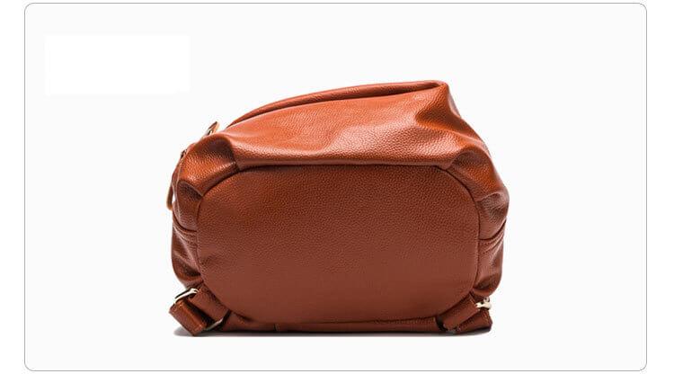 moderner damen rucksack aus leder braun lederrucksack. Black Bedroom Furniture Sets. Home Design Ideas