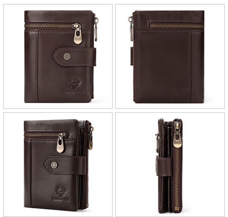 geldb rse herren leder mini braun d nn geldbeutel. Black Bedroom Furniture Sets. Home Design Ideas