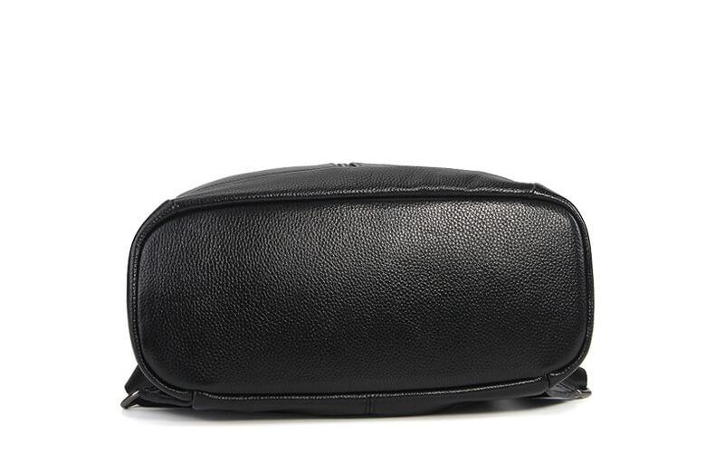 vintager und eleganter rucksack damen schwarz leder. Black Bedroom Furniture Sets. Home Design Ideas