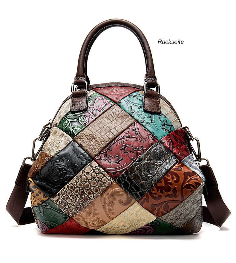kleine handtasche zum umh ngen damen schwarz leder f r. Black Bedroom Furniture Sets. Home Design Ideas