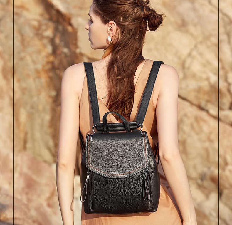 rucksack für alltag, 2 in 1 rucksack umhängetasche damen