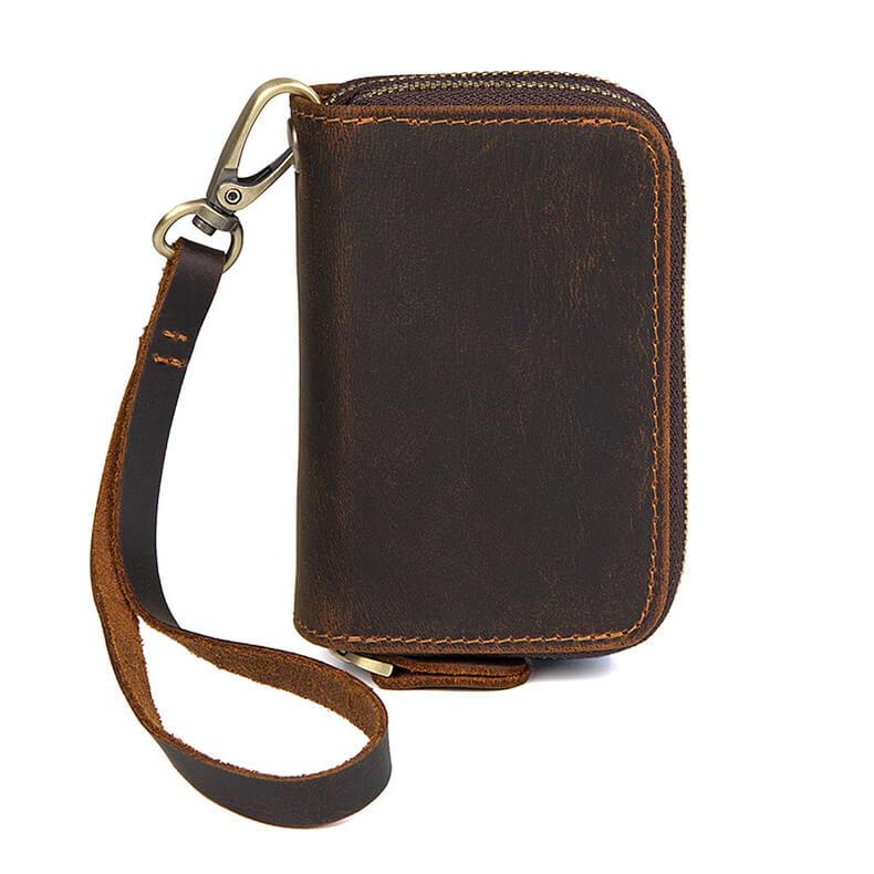 schlüsselanhänger ledertasche