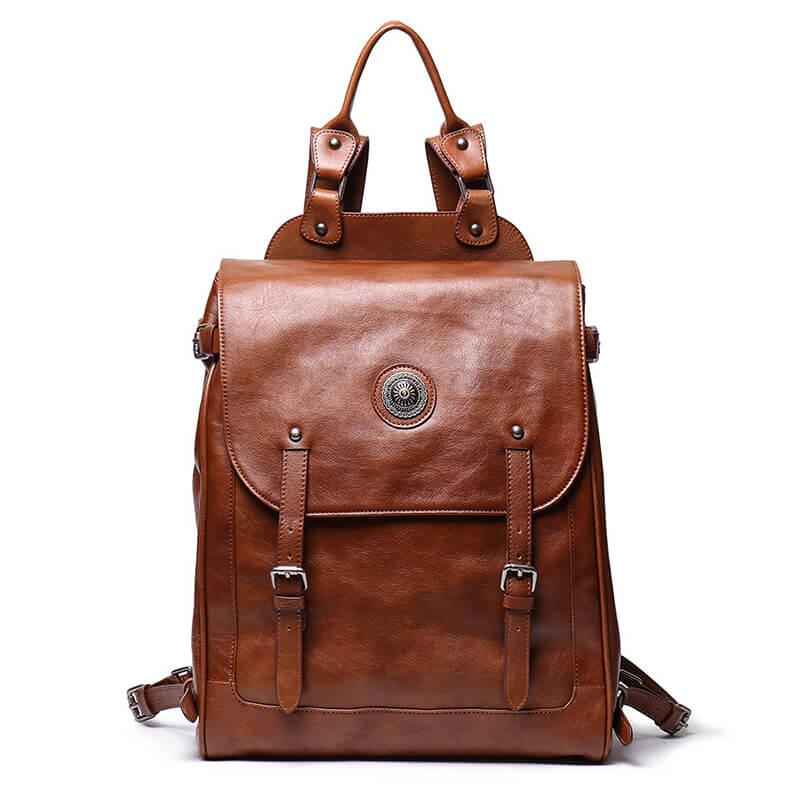 retro rucksack leder/></p> <p><img src=