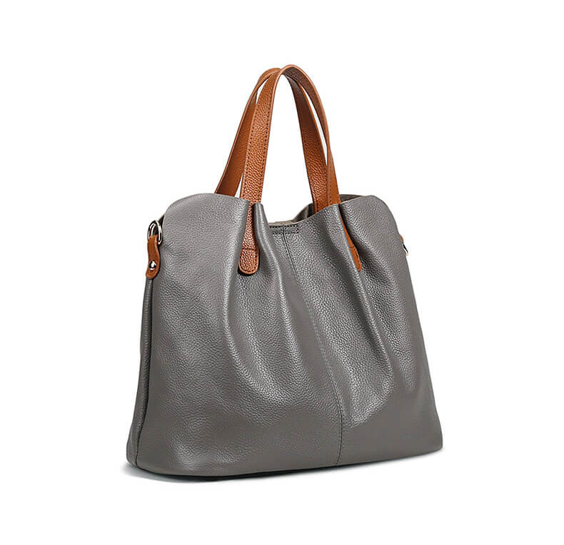 damen leder handtaschen grau