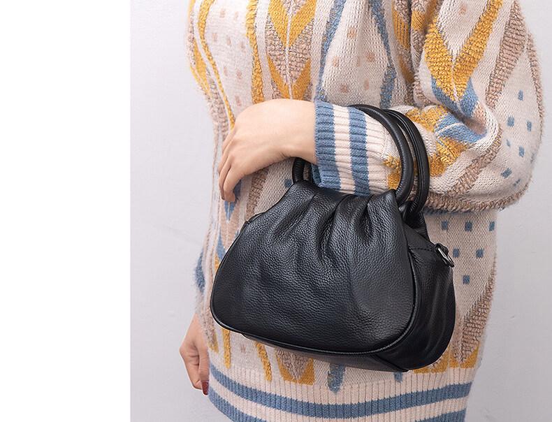 kleine handtasche leder schwarz