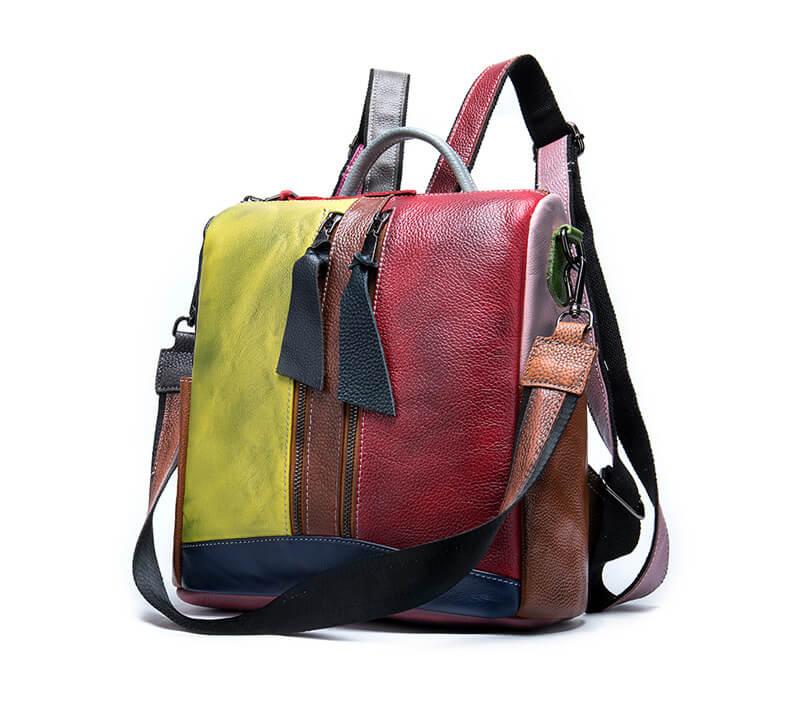 handtasche auch als rucksack zu tragen leder
