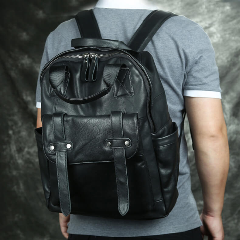 retro backpack laptop