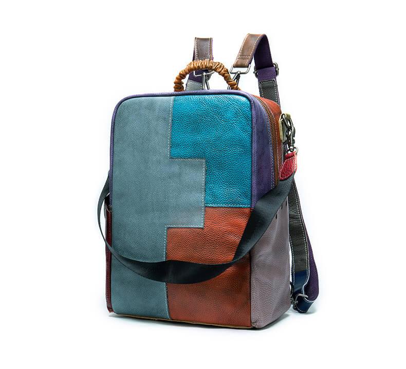 rucksack tasche 2 in 1 damen leder