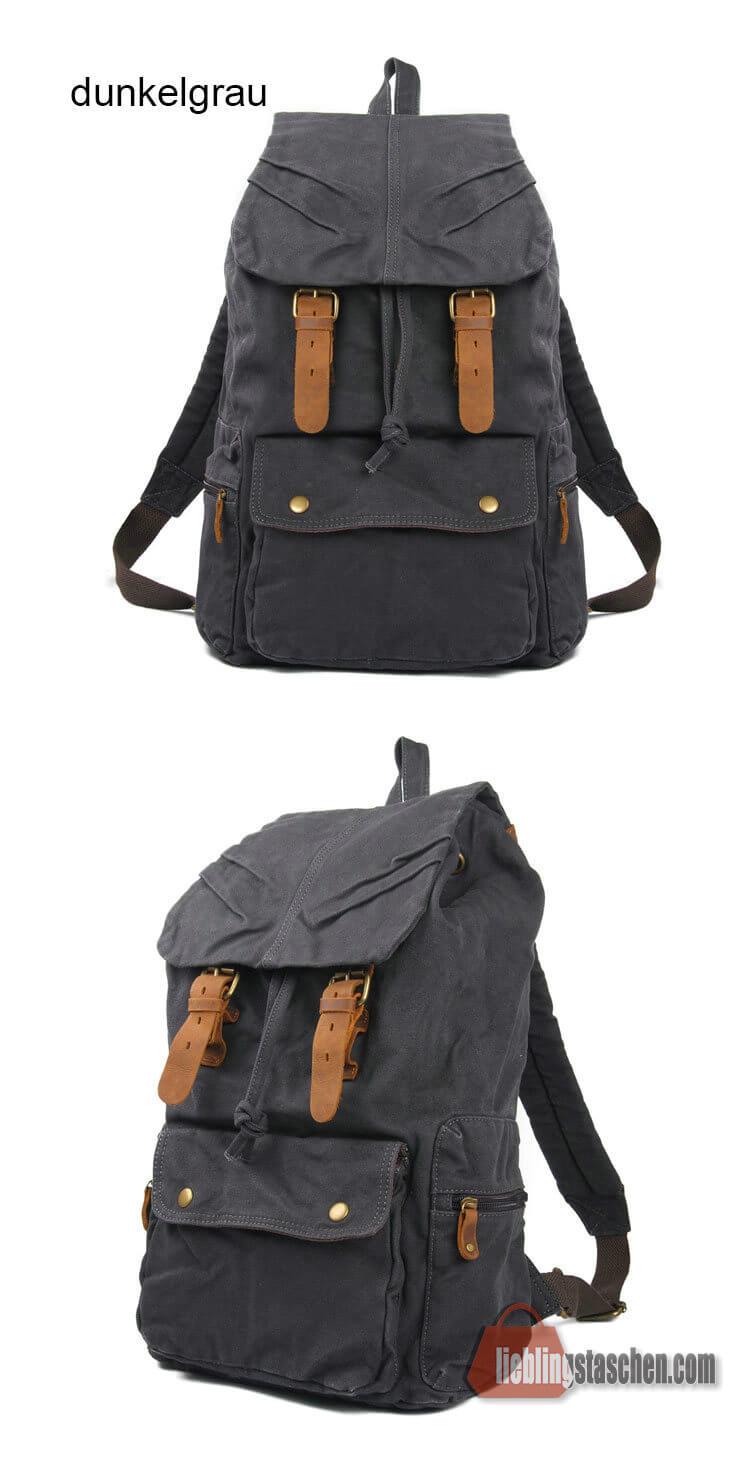 canvas rucksack tasche