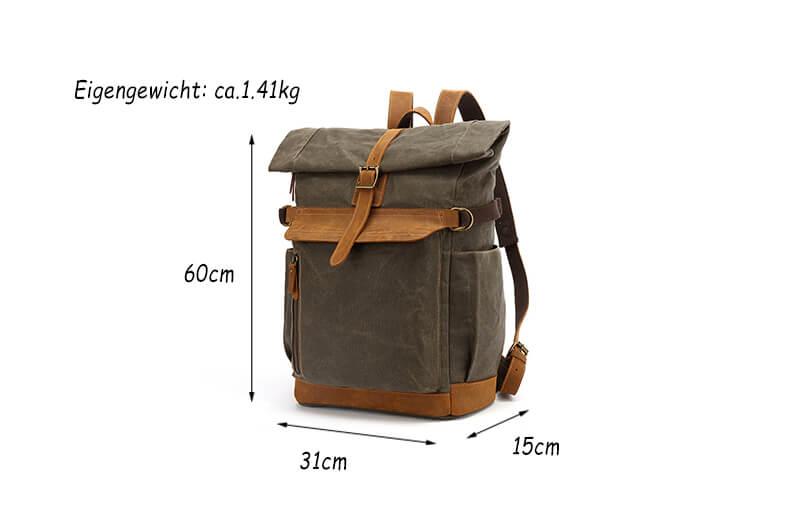 rucksack canvas herren
