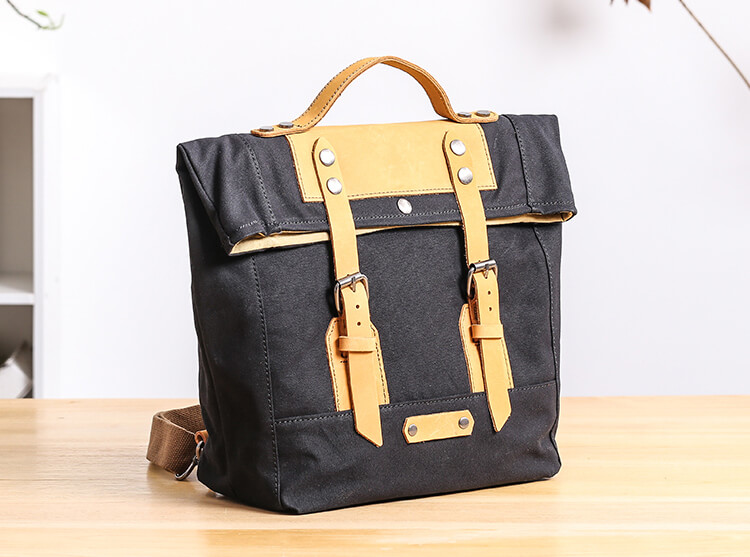 vintage rucksack backpack unisex backpack canvas. Black Bedroom Furniture Sets. Home Design Ideas