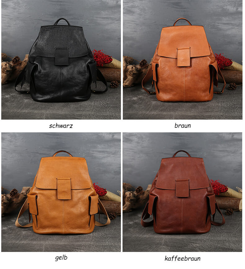 rucksäcke leder vintage