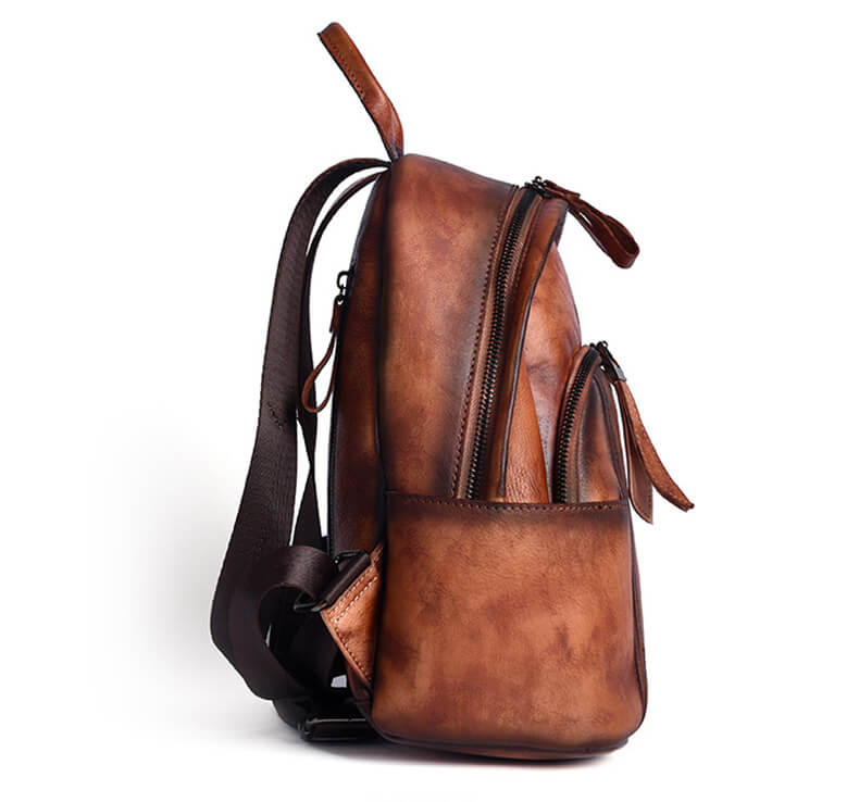 rucksack damen leder braun