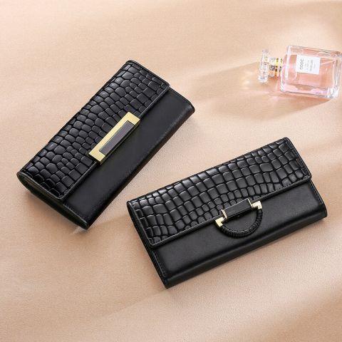 Geldbörse Damen Leder lang Portemonnaie in 3 Farben