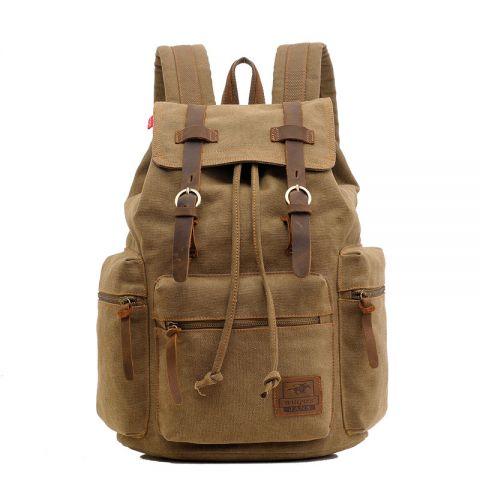 Vintage Rucksack aus Segeltuch Canvas für Uni und Alltag