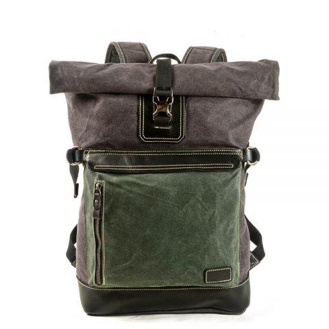 Herren Rucksack aus gewachstem Canvas Backpack für Reisen
