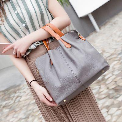 Elegante Handtasche Damen Leder Umängetasche für Alltag