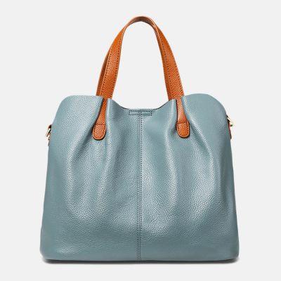 damen leder handtaschen blau,