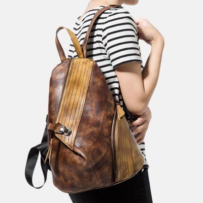 rucksack damen leder vintage