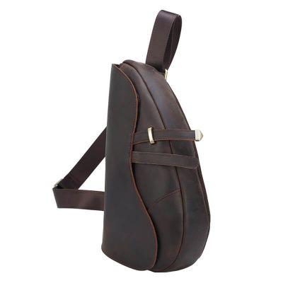 günstiger Brustbeutel Leder für Herren Rucksack mit 1 Gurt