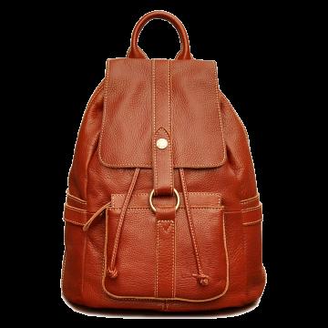 Rucksack Leder für Damen schwarz braun