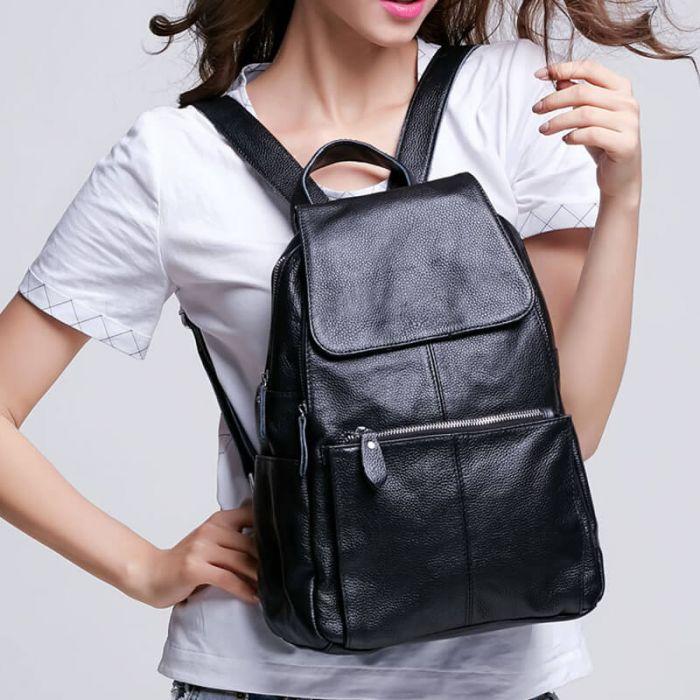 leder rucksack damen schule