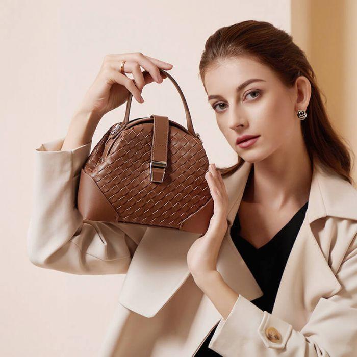 Leder Tasche Damen Umhängetasche Vintage Damentasche