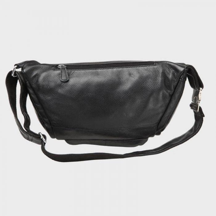 schwarze Hüfttasche Leder Gürteltasche für Herren