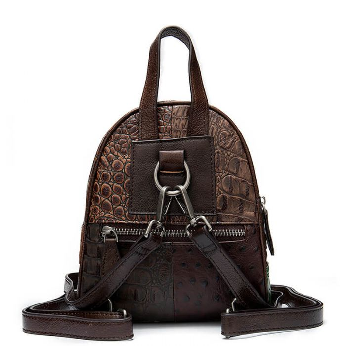 eleganter Rucksack klein Damen Leder Vintage