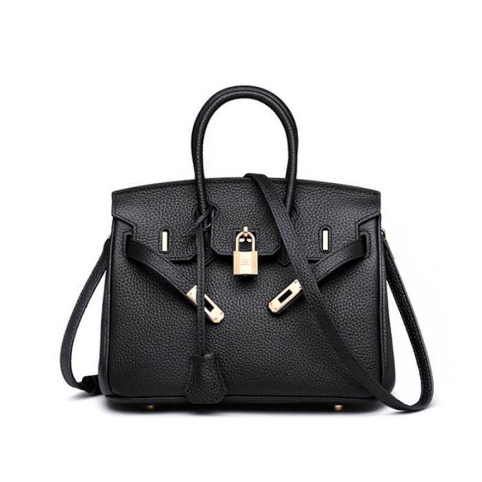 moderne Damen Handtasche Leder braun Umhängetasche