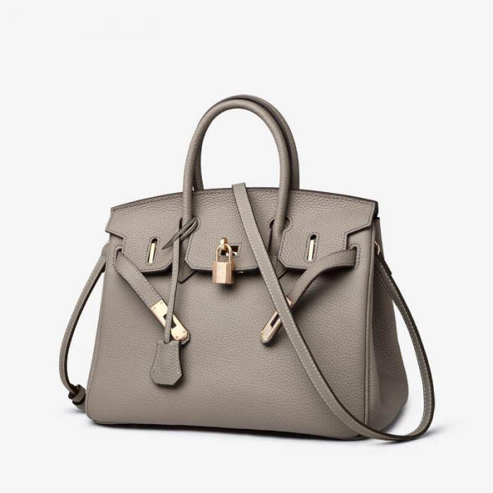 damen handtasche leder braun