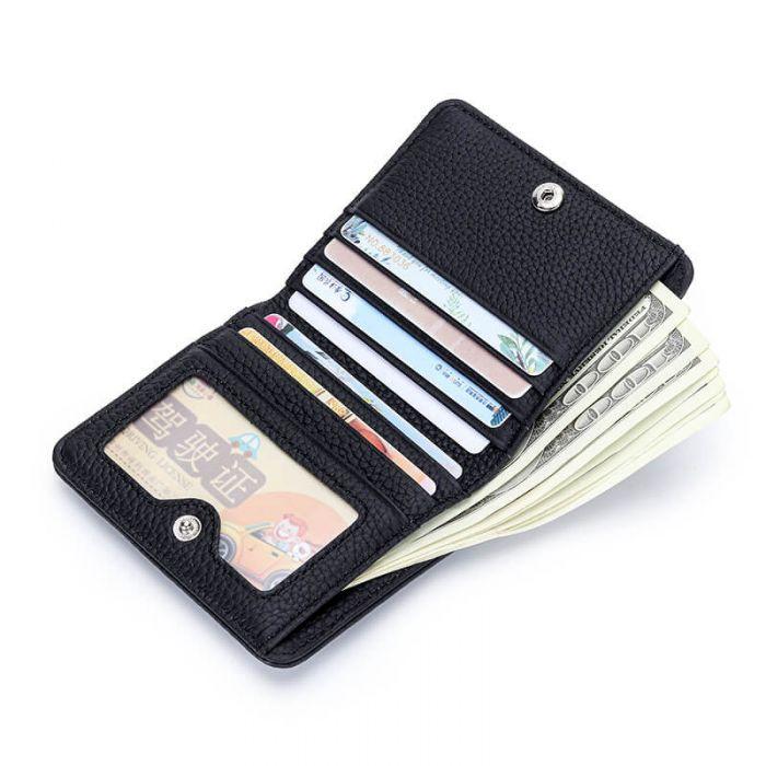 kleine Geldbörse Damen Leder Kleinformat