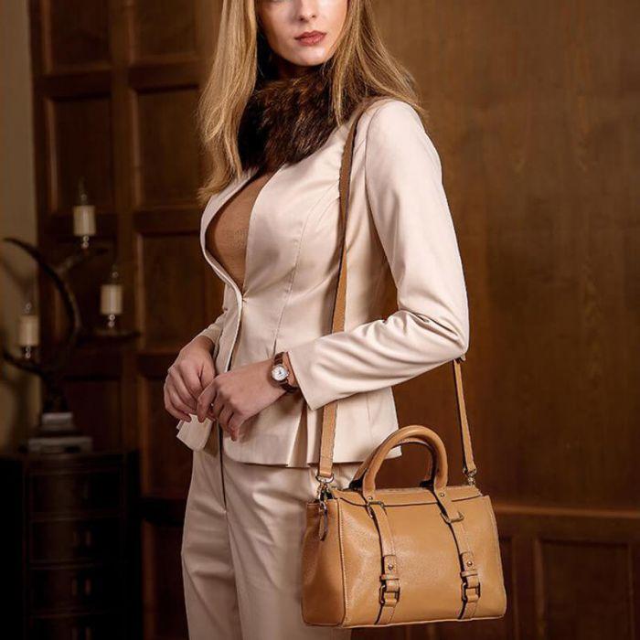 kleine elegante Ledertaschen Damen Umhängetasche Leder Handtasche