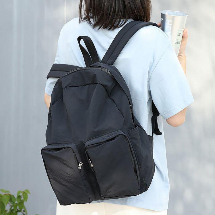 Rucksack Schultertasche Kombi Damen Canvas Shopper