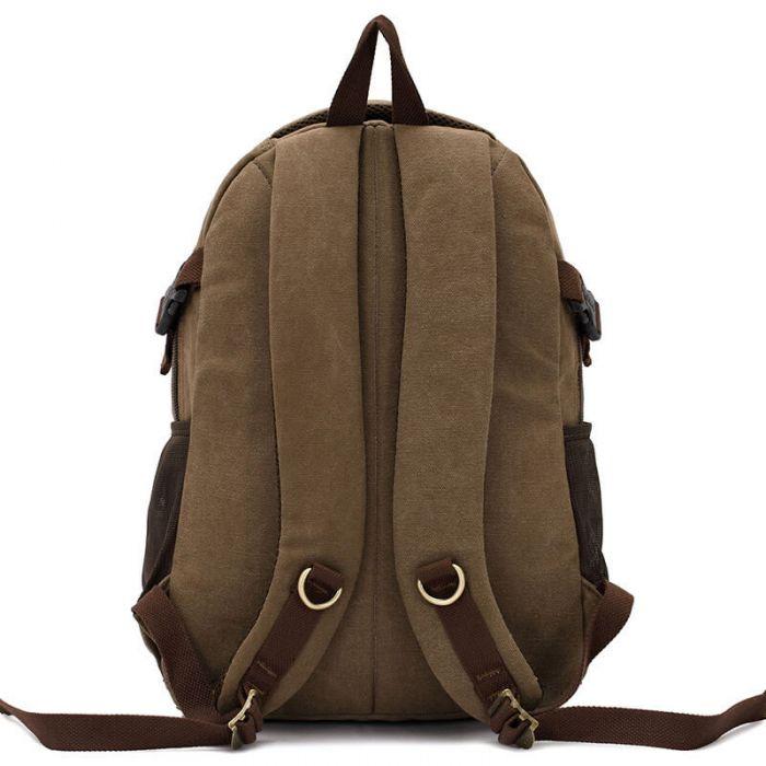 Unisex Rucksack Backpack Canvas für Schule Uni und Freizeit