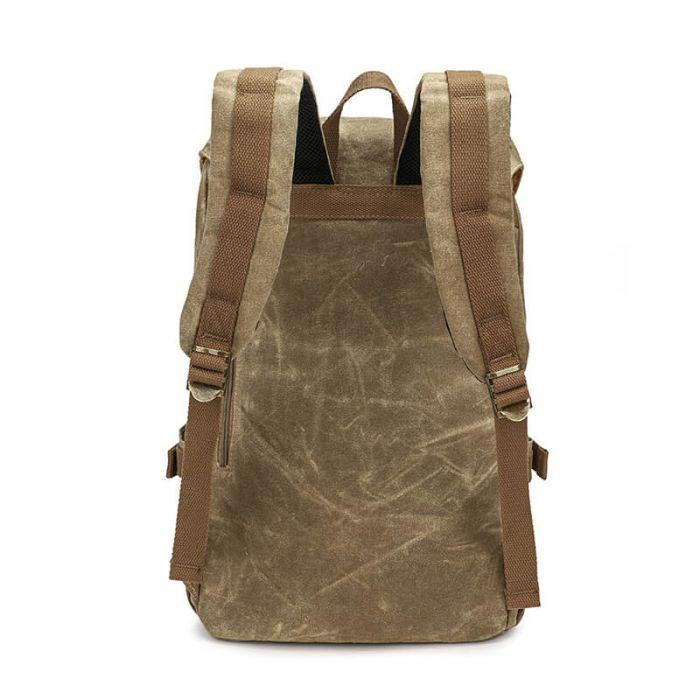 günstiger Rucksack aus Segeltuch für Uni mit Laptopfach