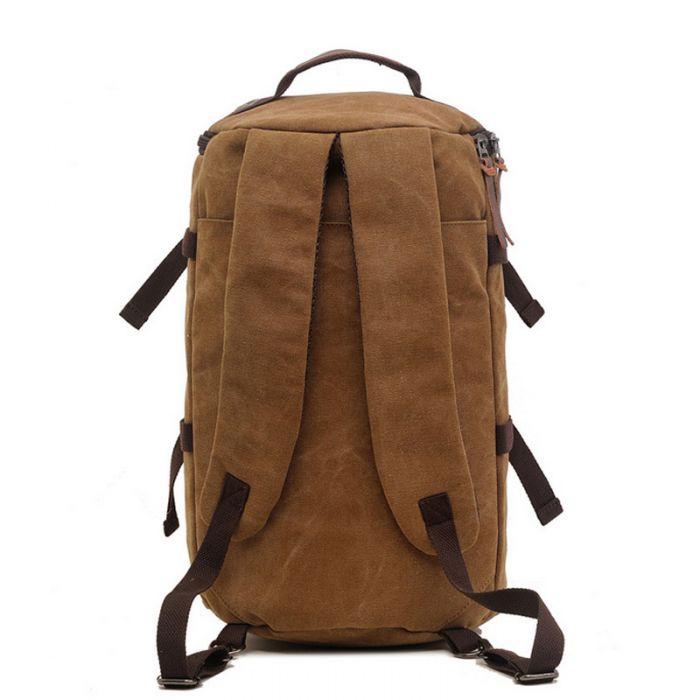 großer Rucksack Umhängetasche Kombination aus Segeltuch für Reisen