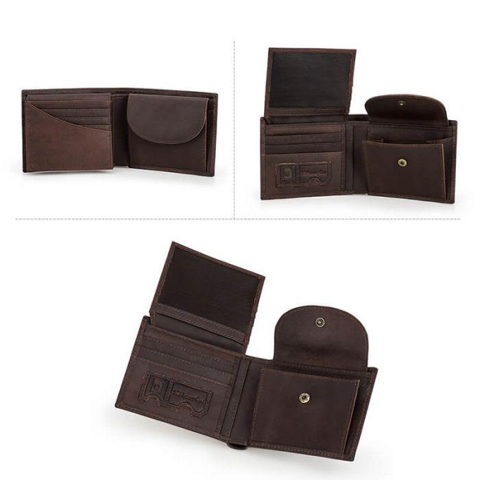 günstige Geldbörse Leder Portemonnaie Herren RFID Schutz