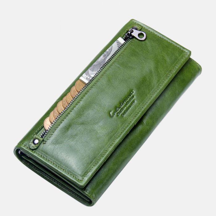 grüne damen geldbörse