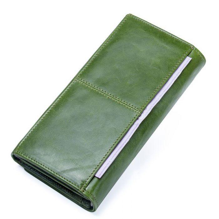 Portemonnaie Damen Leder Geldbeutel lang mit Reißverschluss