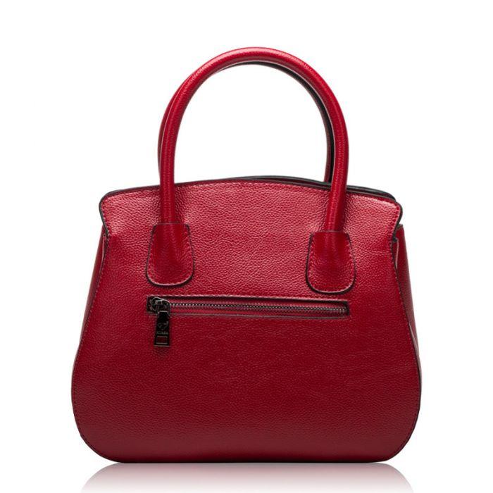 Elegante Handtasche zum Umhängen Umhängetasche mit Henkel in 4 Farben