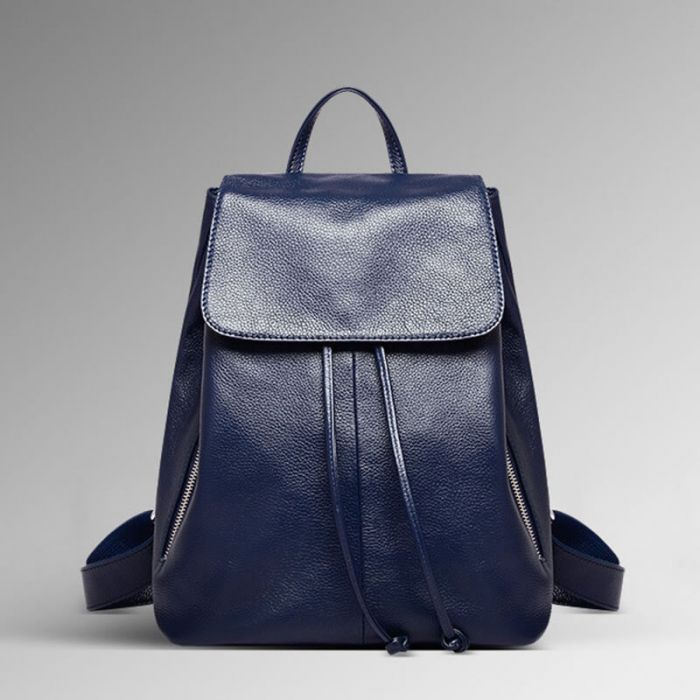 modern Rucksack Damen Leder schwarz
