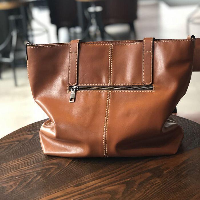 Schultertasche Damen leder Handtasche 2 Farben
