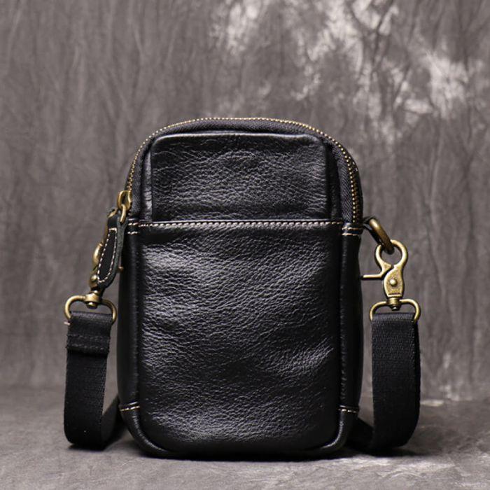 braune Gürteltasche Herren Leder Hüfttasche