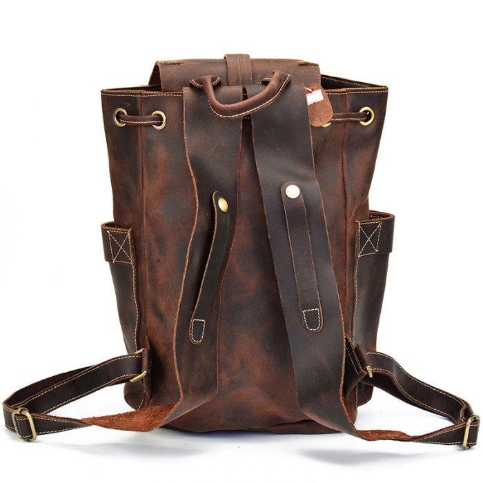 Vintage brauner Rucksack aus Leder für Herren