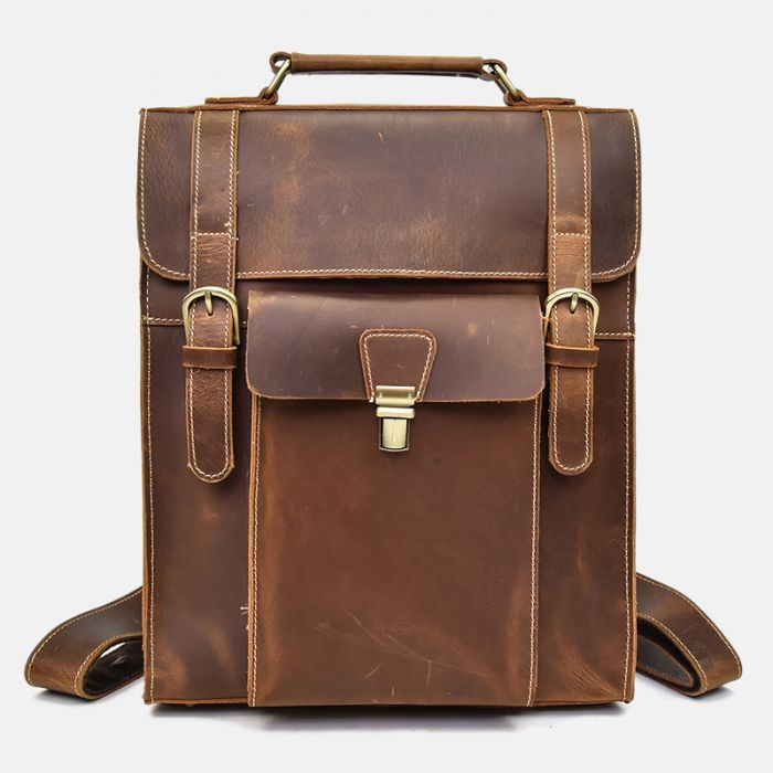 leder rucksack herren vintage