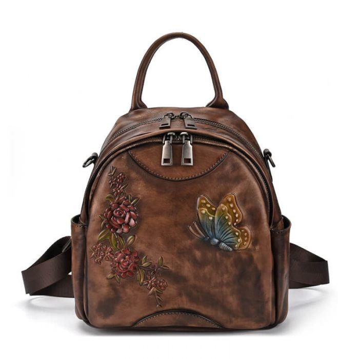 Vintage Rucksack Damen Schmetterling 3 Farben