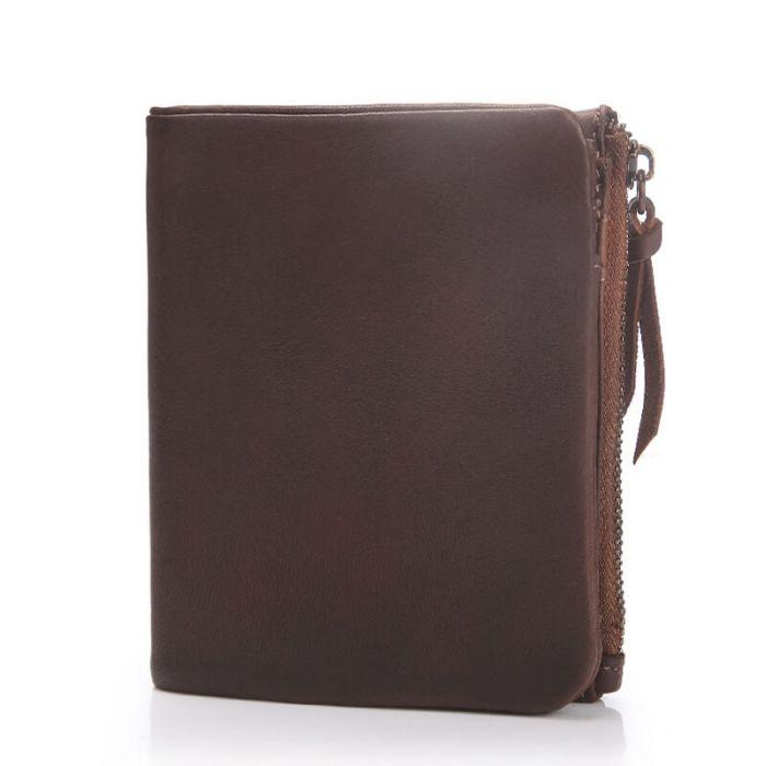 braune Geldbörse Portemonnaie aus Leder für Herren
