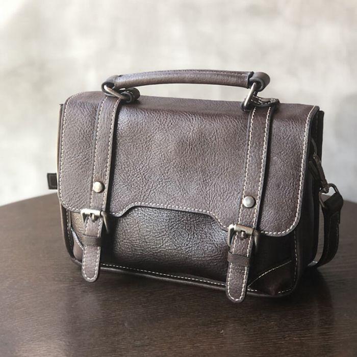 Moderne Ledertasche Damen Schultertasche Leder Handtasche
