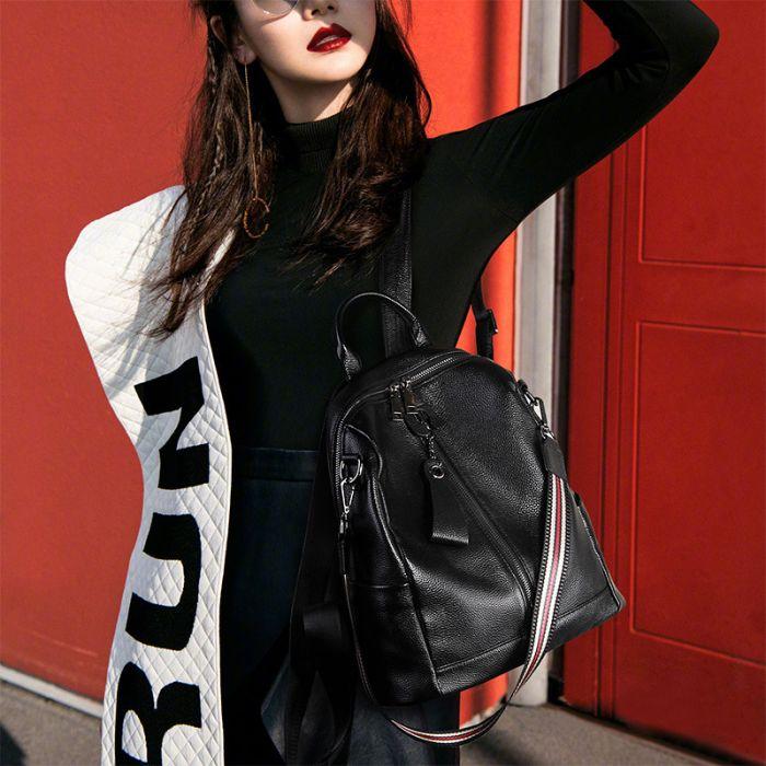 Vintager und eleganter Rucksack Umhängetasche Damen Kombi